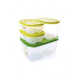 Набор контейнеров «Умный холодильник» (4,4 л/ высокий 1,8 л/ 800 мл × 2 шт )