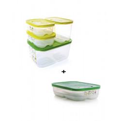 Набор контейнеров «Умный холодильник» (4,4 л/ низкий 1,8 л/ высокий 1,8 л/ 800 мл × 2 шт )